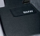 Carpeted Floor Mats With Bmw Lettering Heel