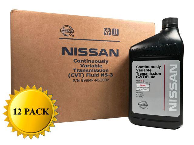 Genuine Nissan OEM CVT-3 Transmission Fluid 999MP-NS300P (12 Quarts New Part# 999MP-CV0NS3) - Nissan (PKNS312)