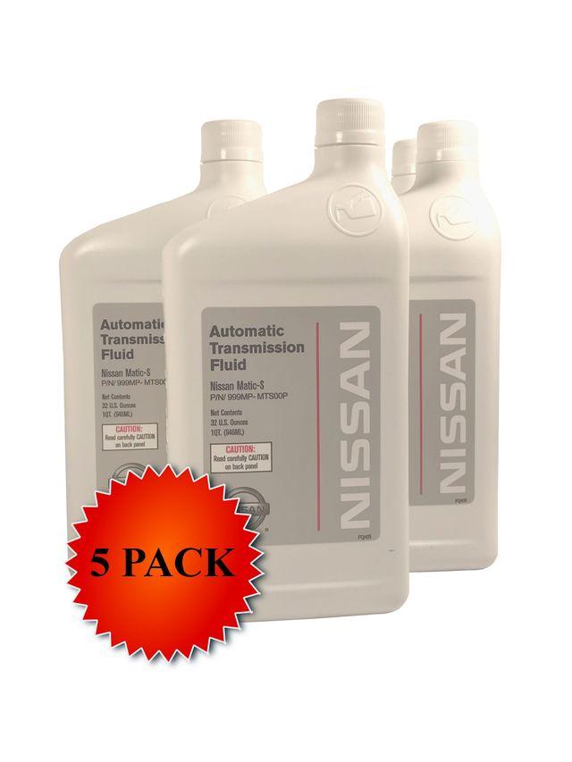 Genuine Nissan OEM Matic-S Transmission Fluid 999MP-MTS00P (5 Quarts New Part# 999MP-MAT00S) - Nissan (PKMTS5)