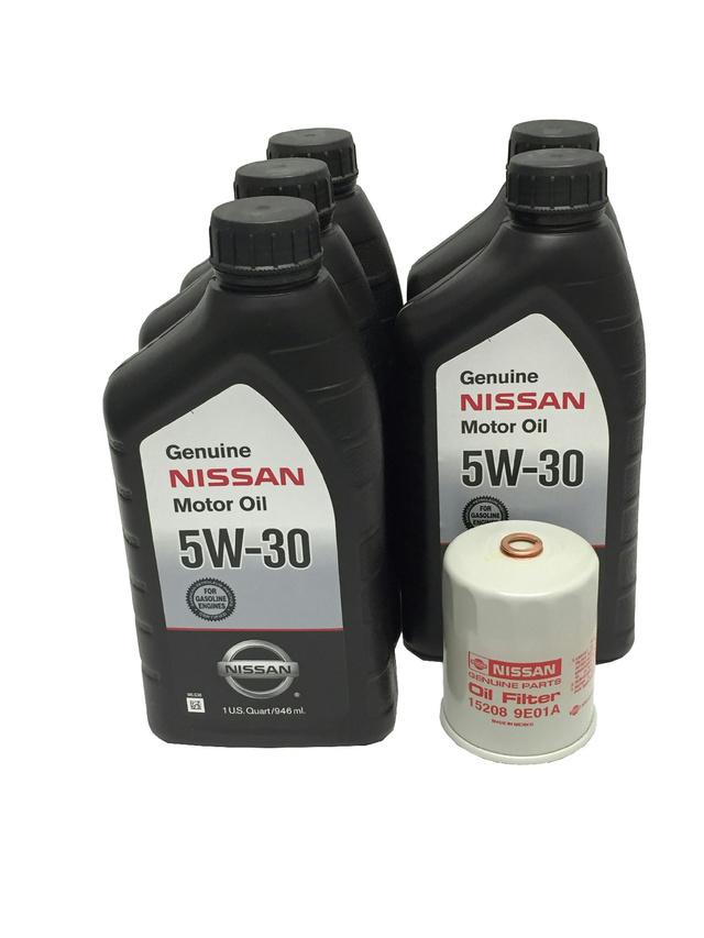 Genuine Nissan 5W-30 Oil Change Kit - Nissan (PK5Q)