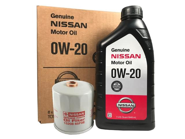 Genuine Nissan 0W-20 Oil Change Kit - Nissan (PK0W20)