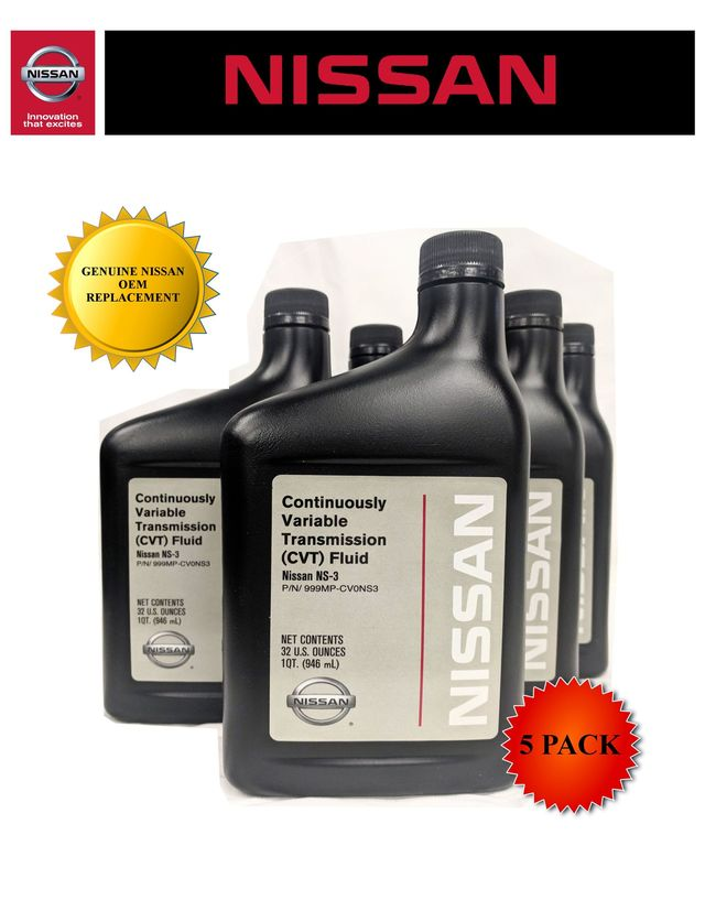Genuine Nissan OEM CVT-3 Transmission Fluid 999MP-NS300P (5 Quarts New Part# 999MP-CV0NS3) - Nissan (PKNS35)