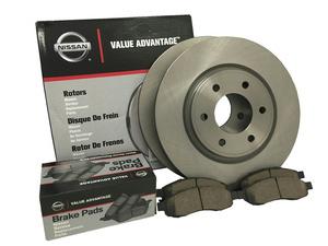 Genuine Nissan VA Front Brake Pad & Rotor Kit 2007-2012 Nissan Altima Sedan - Nissan (999BK-L32JNW)