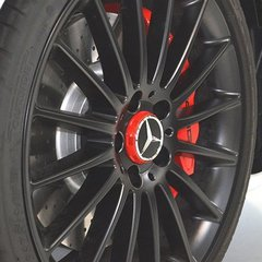 Amg Hub Cap - In Center Lock Design - Red - Mercedes-Benz (000-400-09-00-3594)