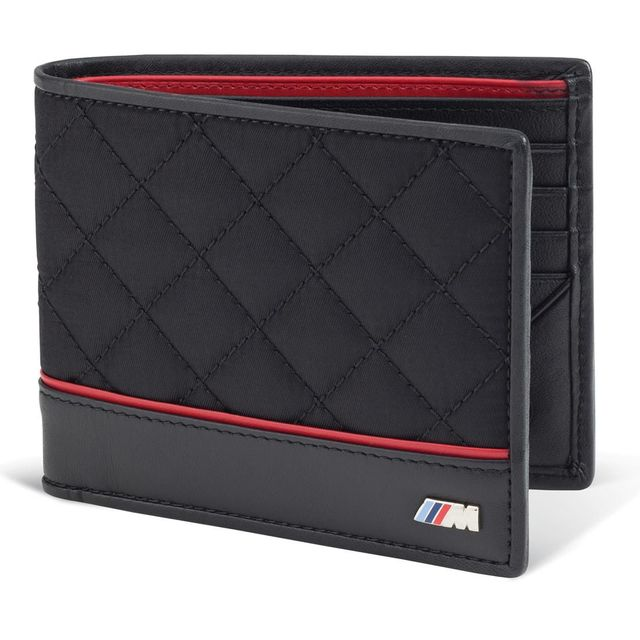 Mens BMW M Wallet - Black QUILTED - BMW (80-21-2-336-954)