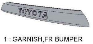 Garnish Front Bumper - Toyota (PZ323-35056)