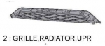 Grille Radiator Upper - Toyota (PZ327-35053)