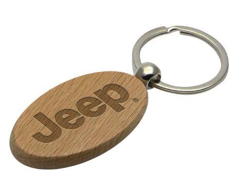 Jeep® Wood Key Chain - Mopar (11J25)