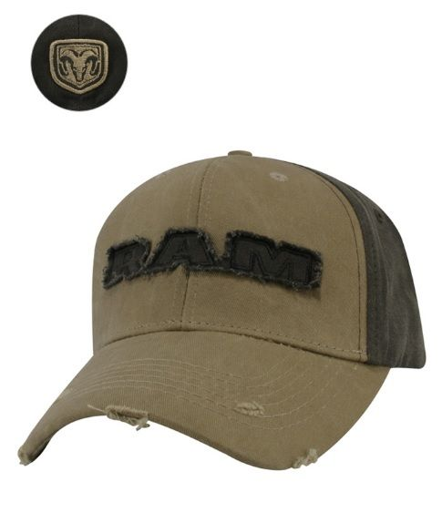 Ram Distressed Applique Cap - Mopar (12FXG)