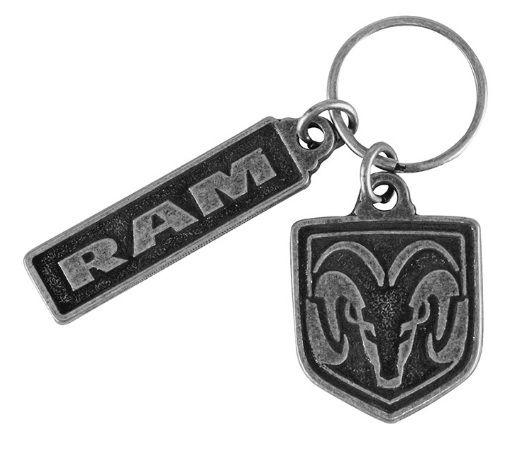 Ram Custom Shield and Word Key Chain - Mopar (11J7J)