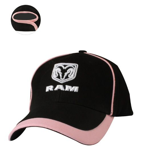 Ram Ladies Twill Cap- Black/Pink - Mopar (12DKT)