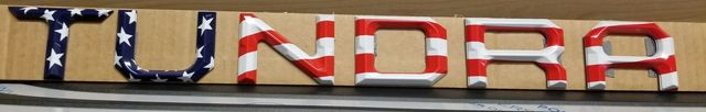 Tundra US Flag Tailgate Emblem - Toyota (TUNDRAUSA)