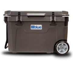 55 Quart Ice Vault Roto-Molded Cooler (w/ Wheels) - Blue Coolers - Nissan (BC55QTWGY)