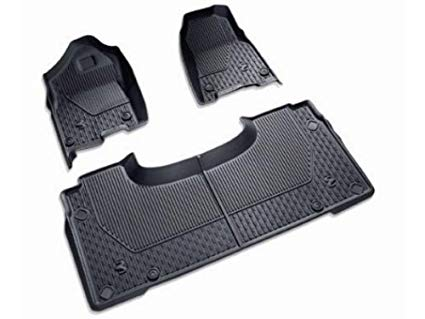 Floor Mats All-Weather Black Ram Logo - Mopar (82215323AD)
