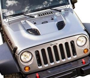 Not in stock. Mopar Jeep Wrangler (JK) 10th Anniversary Power Dome Hood - Mopar (68184708AB)