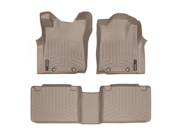 Tacoma WeatherTech Floor Liners 2012-2015 Model Access Cab Tan Front & Rear Set
