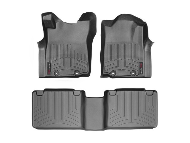 Tacoma WeatherTech Floor Liners 2012-2015 Model Access Cab Black Front & Rear Set