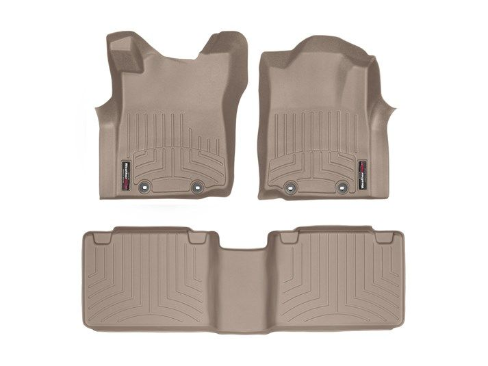Tacoma WeatherTech Floor Liners 2005-2011 Model Tan Front Set W/Passenger Retention