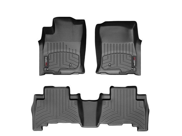 Prius WeatherTech Floor Liners 2010 & Up Model Black Front & Rear Set
