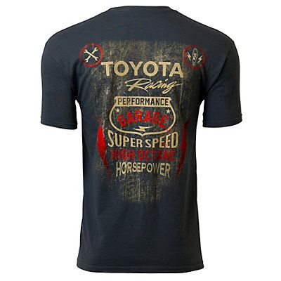 Front Toyota Racing Garage Tee Extra Extra Large