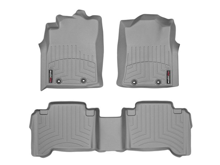 Tacoma WeatherTech Floor Liners 2005-2011 Model Double Cab Gray Front & Rear W/Passenger Retention