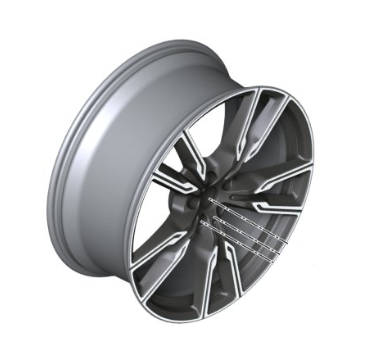 "22"" Style 747M V-Spoke Light Alloy Wheel, Cerium Grey - 10.5Jx22 ET:43 - BMW (36-11-8-072-003)"