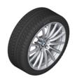 "G32 6 Series GT, G11/12 7 Series 18"" Style 619 Silver Winter Wheel/Tire - 8x18"