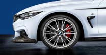 """F3x 3 & 4 Series M Performance 20"""" Style 624M Polished Wheel/Tire Set - vehicles up to 3/2014 - BMW (36-11-2-353-238)"""