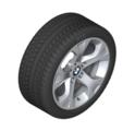 """E84 X1 17"""" Style 317 Silver Winter Wheel/Tire - 7.5x17"""