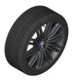 "G30 5 Series 19"" Style 664M Black Winter Wheel/Tire - 8x19"