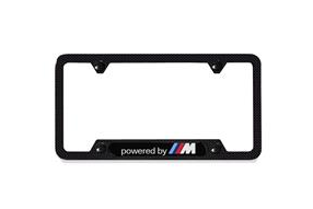 """Powered by M"" Carbon Fiber License Plate Frame - BMW (82-12-2-433-224)"
