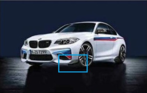 ​F87 M2 M Performance Carbon Fiber Front Winglets - Right - BMW (51-19-2-361-668)