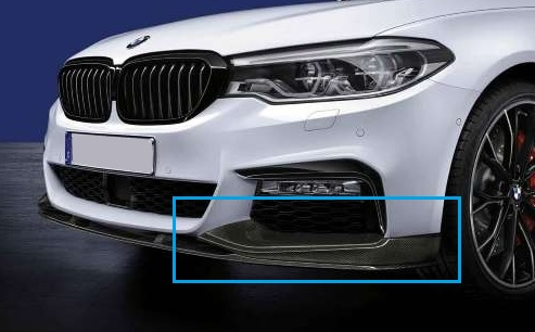 G30 5 Series M Performance Front Carbon Fiber Splitter Kit - M550iX - BMW (51-19-2-444-510)
