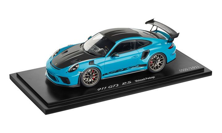 911 GT3 RS with Weissach Package, 1:18, Miami Blue - Limited Edition Model Car