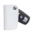 BMW Leather Key Case - White