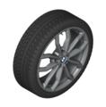"F39 X2 18"" Style 711M Ferric Grey Winter Wheel/Tire - 6.5x18"
