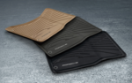 95B Macan (2014+) Rubber All-Weather Floor Mats Set - Porsche (95B-044-800-43-OP1)
