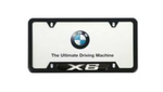 X6 License Plate Frame - Black
