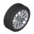 "F22/23 2 Series 17"" Style 380 Silver Winter Wheel/Tire - 7x17"