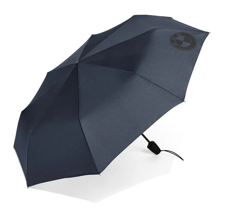 BMW Pocket Logo Umbrella - Dark Blue