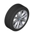 "F25 X3, F26 X4 18"" Style 307 Silver Winter Wheel/Tire - 8x18"