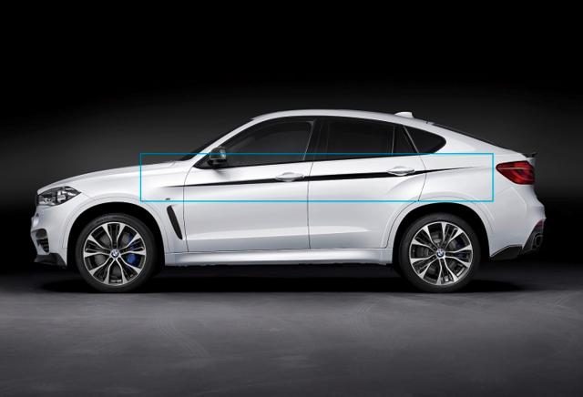 F16 X6 M Performance Side Accent Stripes Set - BMW (51-14-2-357-137)