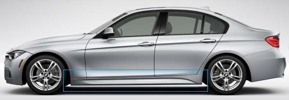 F30/31 3 Series M Sport Aerodynamic Rocker Panel Retrofit Kit - BMW (PKF30MSPORTSIDES)