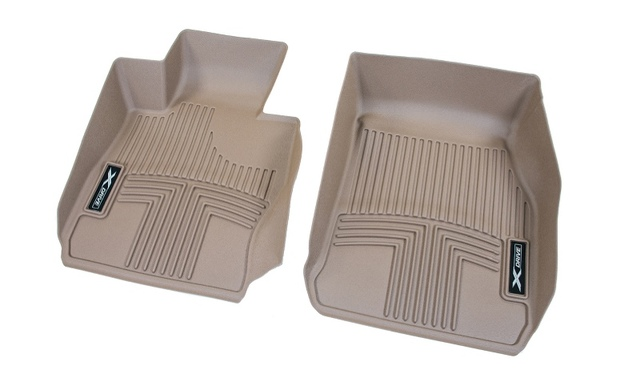 F30/31 3 Series All Weather Rubber Floor Liners, Front - Beige - BMW (82-11-2-317-870)