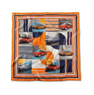 Classic Silk Scarf -Orange, Multi - BMW (80-16-2-463-138)