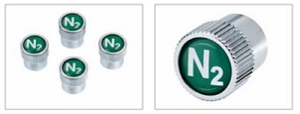Nitrogen Logo Valve Stem Caps - BMW (36-11-0-439-435)