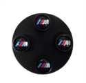 M Logo Valve Caps Set with Black Body