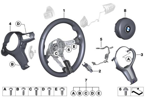 F3x 3 & 4 Series M Sport Steering Wheel Retrofit Kit - BMW (PKF3XMWHEELRETROFIT)