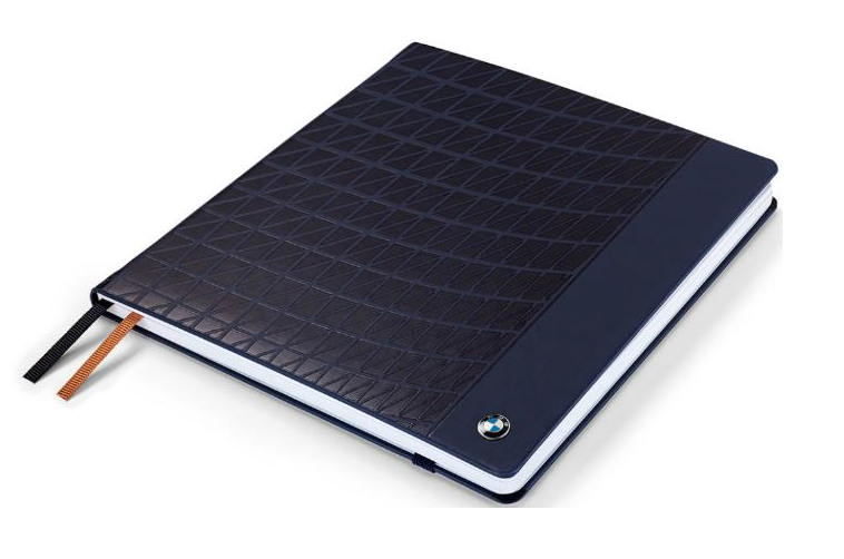 BMW Large Notebook - Dark Blue