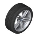 "F8x M3/M4 19"" Style 641M Silver Winter Wheel/Tire - 8.5x19"